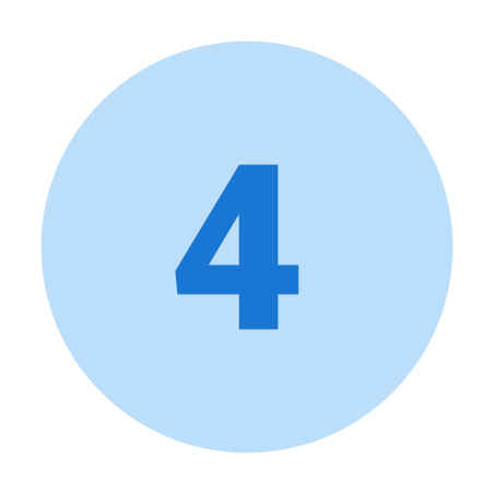 Circled 4 icon