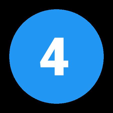 Circled 4 C icon