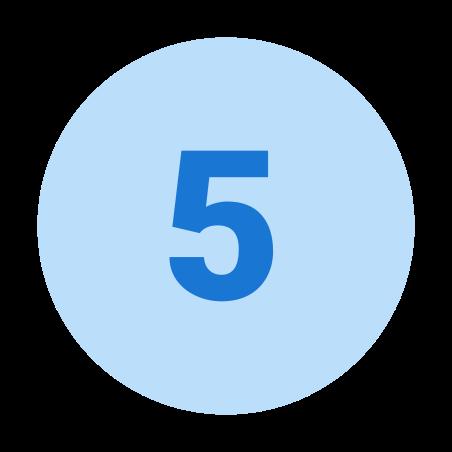 Circled 5 icon