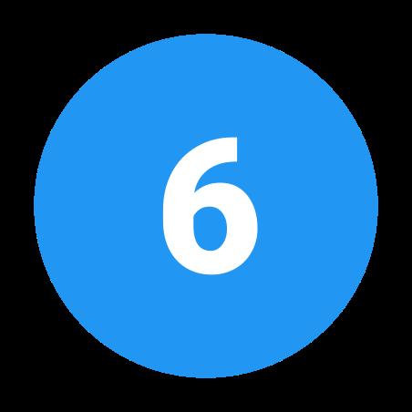 6 в закрашенном кружке icon