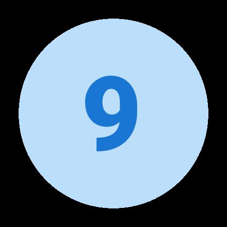 Circled 9 icon