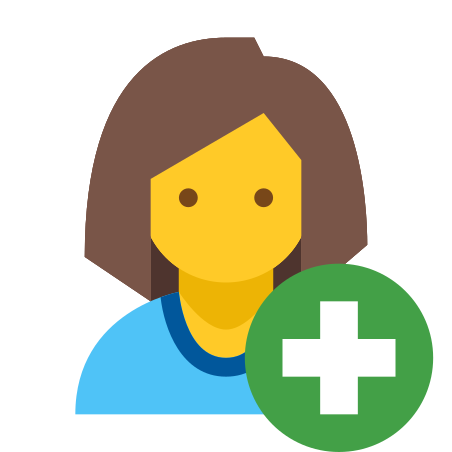 Add User Female Skin Type 7 icon