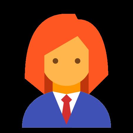 Woman Profile icon in Color