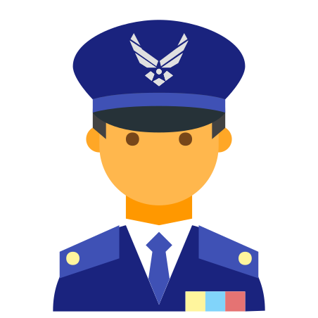 Air Force Commander Male icon
