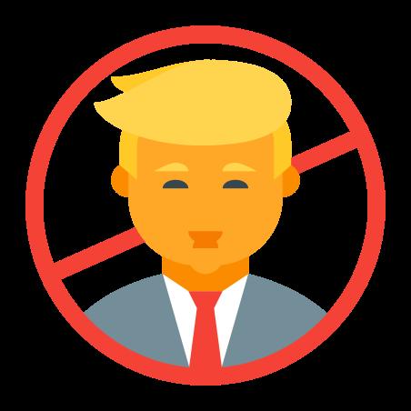 Anti Trump icon in Color