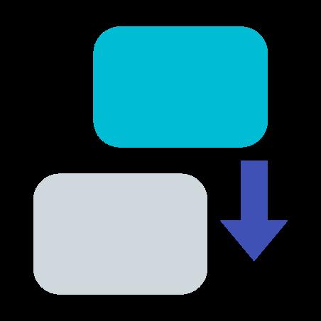Append Clip icon in 색상