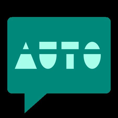 Auto SMS icon in Color