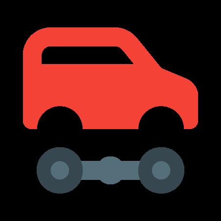 자동차의 icon in 색상