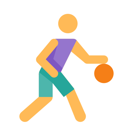 Basketball Player icon in Color