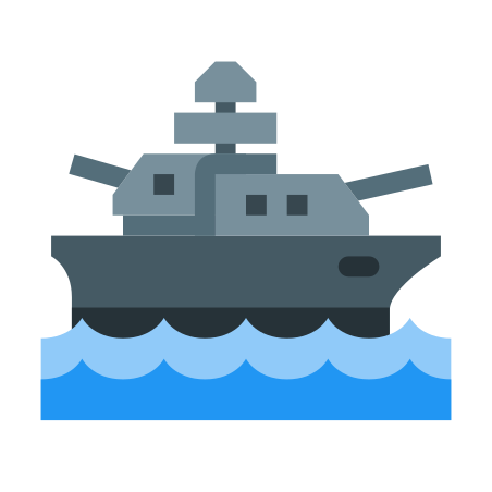 Battleship icon in Color