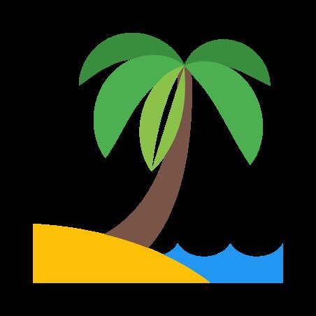 Beach icon in Color