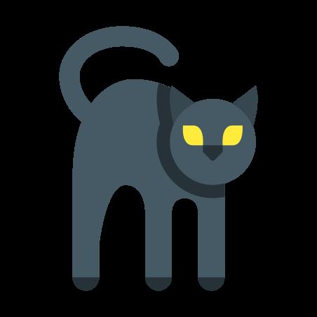 Black Cat icon in Color
