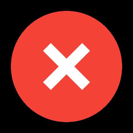 취소하다 icon in 색상
