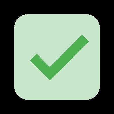 Tick Box icon in Color
