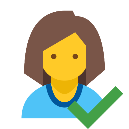 Checked User Female Skin Type 7 icon