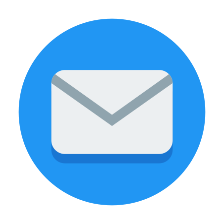 Circled Envelope icon in Color