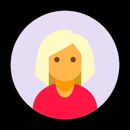 Circled User Female Skin Type 3 icon