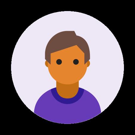 Мужчина с типом кожи 5, в кружке icon