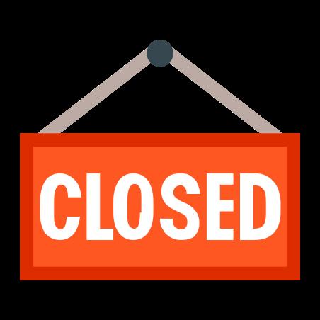 Closed Sign icon in Color