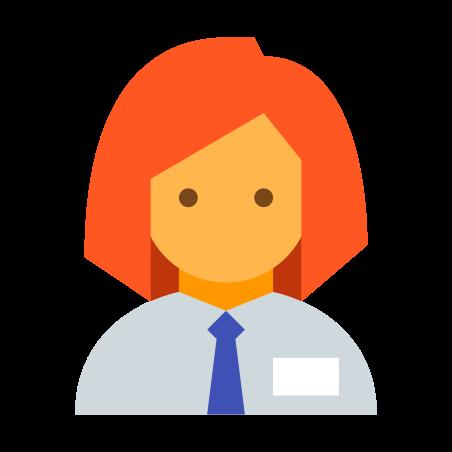 Collaborator Female icon in Color
