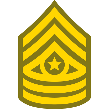Command Sergeant Major CSM icon in Color