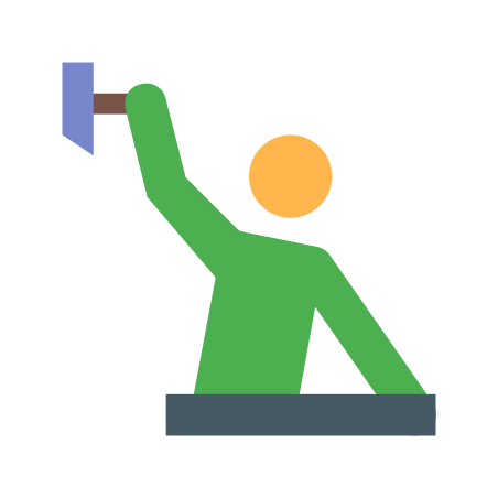 Construction Worker icon in Color