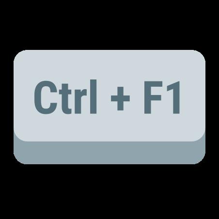 Ctrl + F1 icon