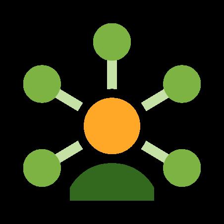 고객 통찰력 icon in 색상