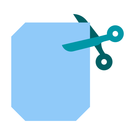 Cutting corners icon
