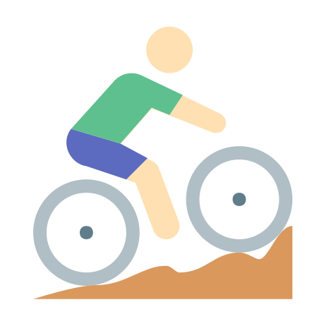 Cycling Mountain Bike Skin Type 1 icon in Color