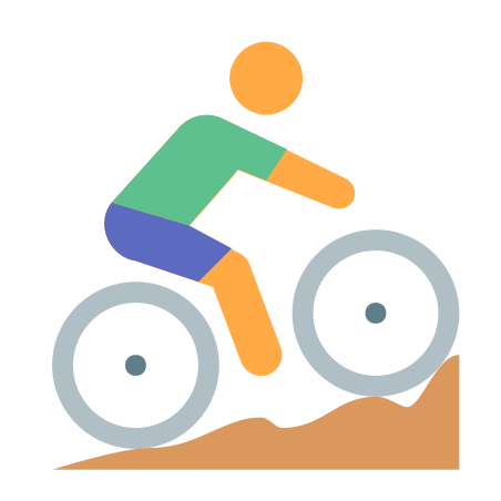 Cycling Mountain Bike Skin Type 2 icon in Color