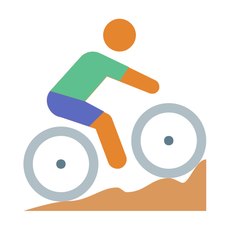 Cycling Mountain Bike Skin Type 3 icon in Color