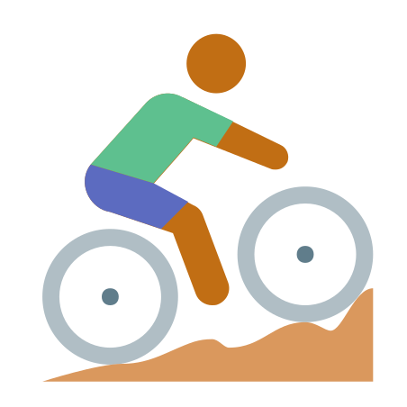 Cycling Mountain Bike Skin Type 4 icon in Color
