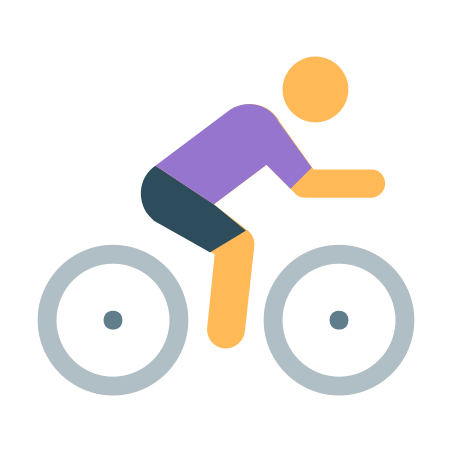 Cycling icon in Color