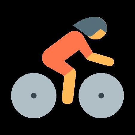 Cyclist icon in Color