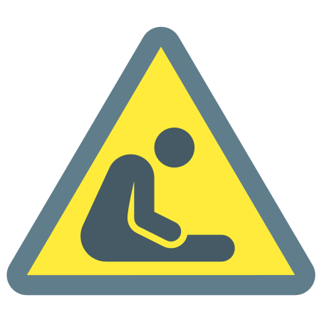 Danger Of Suffocation Hazard icon