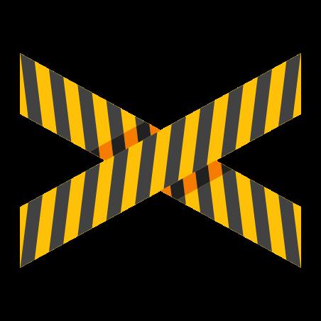 Danger Tape icon in Color