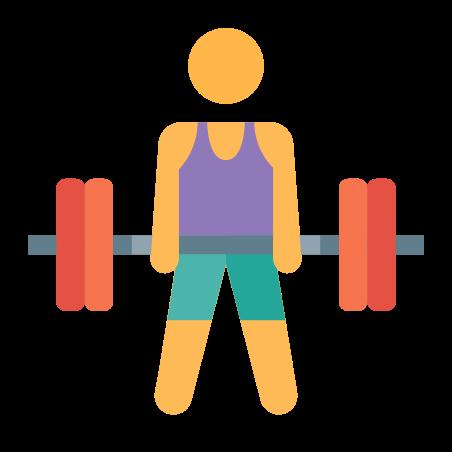 Deadlift icon in Color