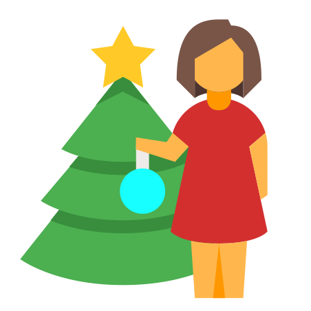 Decorating Christmas Tree icon in Color