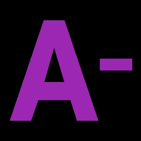 Schrift verkleinern icon