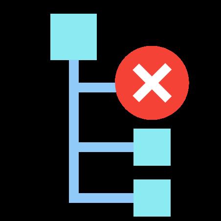 하위 노드를 삭제 icon in 색상