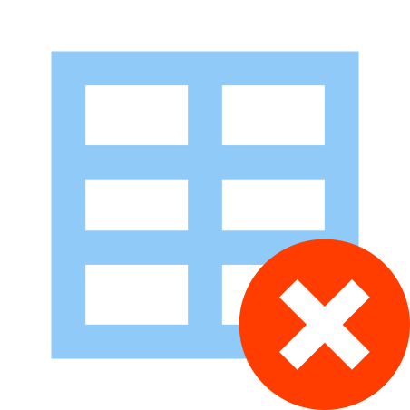 Delete Table icon