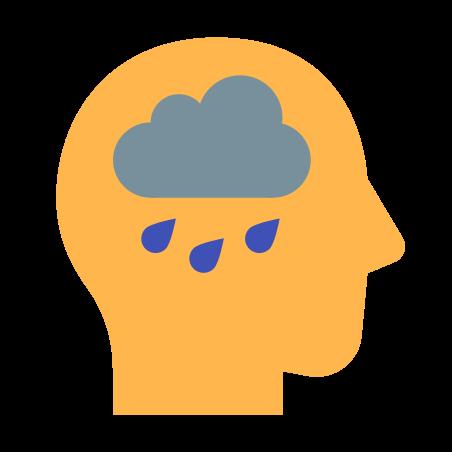 Depression icon in Color