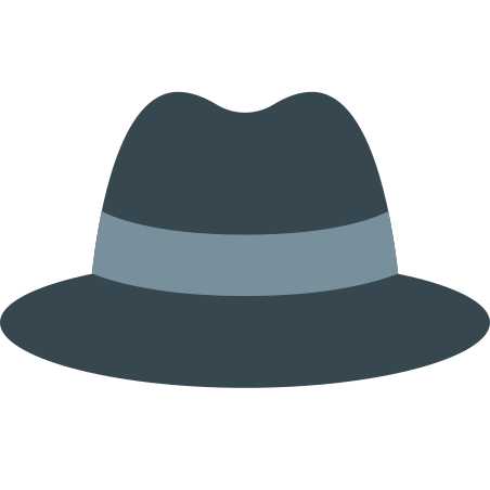 Detective Hat icon in Color
