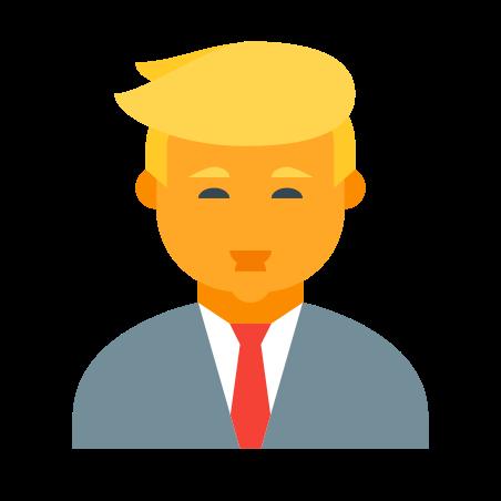 Donald Trump icon in Color