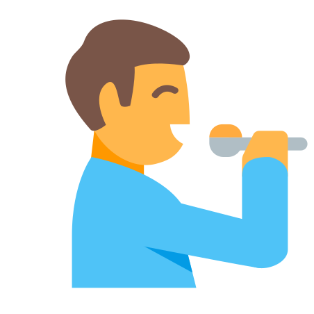 Eating Person icon in Color