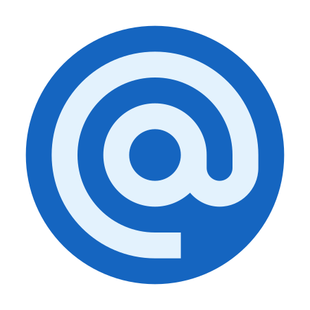 Email Sign icon in Color
