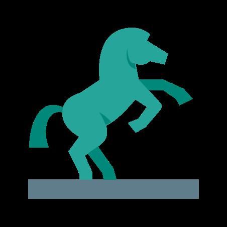 Equestrian Statue icon in Color