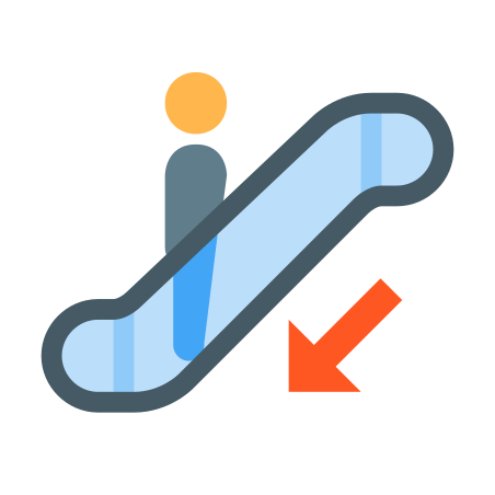 Escalator Down icon
