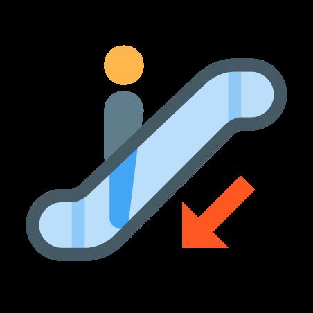 Escalator Down icon